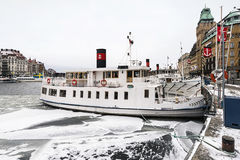 Barcos do arquipélago de Éstocolmo Foto de Stock Royalty Free