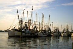 Barcos do camarão Fotos de Stock Royalty Free