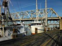Barcos do camarão de Louisiana imagem de stock