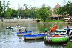 Barcos do lago Ariana, Sofia Bulgaria Imagem de Stock Royalty Free