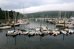 Barcos do nordeste do porto Fotos de Stock Royalty Free