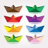 Barcos do papel colorido ilustração royalty free