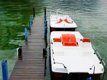 Barcos do pedal Foto de Stock Royalty Free
