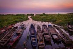 Barcos do pescador fotos de stock royalty free