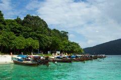 Barcos do táxi em Tailândia Imagens de Stock