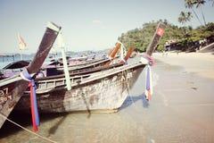 Barcos dos pescadores em Tailândia Fotos de Stock Royalty Free