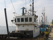 Barcos dos pescadores na porta Imagens de Stock
