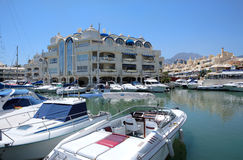 Barcos e iate Benalmadena fotos de stock royalty free