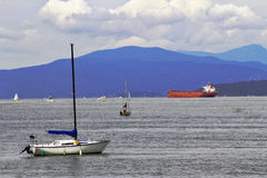 Barcos e navios de vela Fotografia de Stock Royalty Free