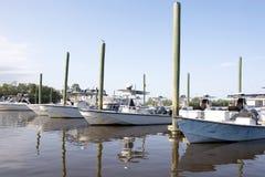 Barcos e Pólos fotografia de stock
