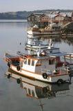 Barcos e pilha-moradia fotos de stock royalty free