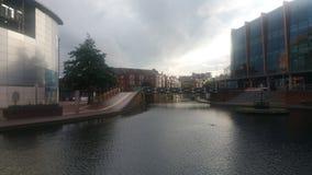 Barcos e rio de Birmingham Fotos de Stock Royalty Free