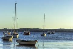 Barcos e veleiros perto de Brioni & de x28; Croatia& x29; Imagens de Stock