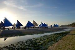 Barcos em Boracay Foto de Stock Royalty Free