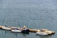 Barcos em Corfu foto de stock royalty free