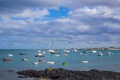 Barcos em Corralejo Fotos de Stock