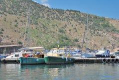 Barcos em Crimeia Fotografia de Stock Royalty Free