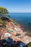 Barcos em DES Canonge do porto foto de stock royalty free