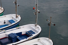 Barcos em Elantxobe Imagens de Stock Royalty Free