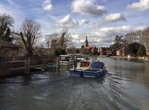 Barcos em fechamentos de Marlow Imagens de Stock Royalty Free