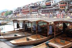 Barcos em Fenghuang, China fotografia de stock royalty free