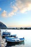 Barcos em Mondello Imagem de Stock