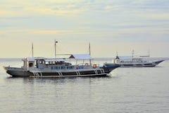 Barcos em Negros oriental, Filipinas do recurso do VIP da residência privada Fotos de Stock