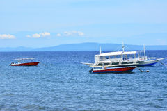 Barcos em Negros oriental, Filipinas do recurso do VIP da residência privada Fotografia de Stock