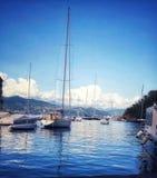 Barcos em Portofino fotografia de stock