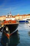 Barcos em St.Tropez fotografia de stock