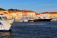 Barcos em St.Tropez foto de stock royalty free