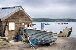 Barcos em Swanage imagem de stock royalty free