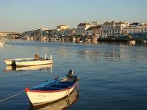 Barcos em Tavira Fotos de Stock Royalty Free