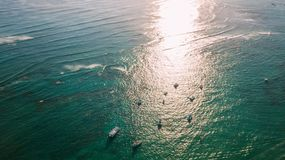 Barcos em um feixe do sol fotos de stock royalty free