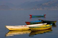 Barcos em um lago Foto de Stock Royalty Free