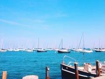 Barcos em um porto Fotografia de Stock