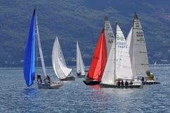 Barcos em uma bóia de Trofeo Gorla 2012 Fotos de Stock