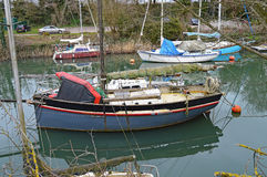 Barcos em uma bacia foto de stock