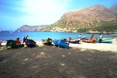 Barcos en África Foto de archivo libre de regalías