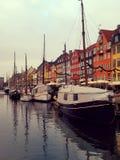Barcos en Copengahen foto de archivo