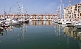 Barcos en el acceso de Gibraltar Fotos de archivo