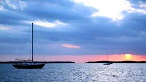 Barcos en el ancla Imágenes de archivo libres de regalías