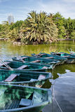 Barcos en el aPark de Ciutadell en Barcelona Imágenes de archivo libres de regalías
