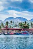 Barcos en el embarcadero Imágenes de archivo libres de regalías