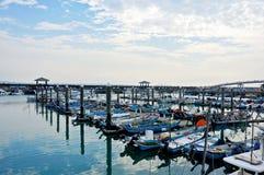 Barcos en el embarcadero Fotos de archivo