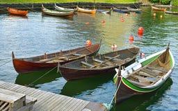 Barcos en el embarcadero Oslo Imágenes de archivo libres de regalías