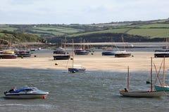 Barcos en el estuario del camello Imagen de archivo libre de regalías