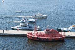 Barcos en el Kotka Foto de archivo