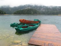 Barcos en el lago Fotografía de archivo