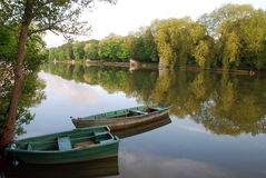Barcos en el Loiret Imagen de archivo libre de regalías